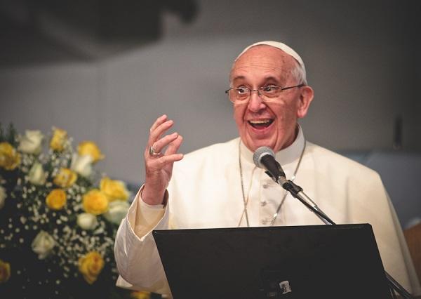 Papa Francisco faz pronunciamento durante missa em hospital dedicado a S‹o Francisco de Assis. FOTO: FELIPE RODRIGUES / JOVENSCONECTADOS