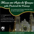 Pastoral da Criança promove Encontro com Bispos Referenciais de todo o Brasil e Missa em Ação de Graças