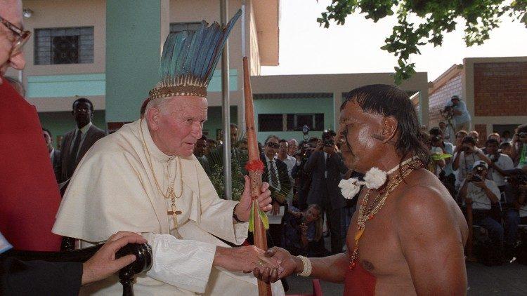 Papa João Paulo II presidiu missa na Esplanada dos Ministérios | Foto: L'Osservatore Romano