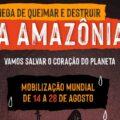 Mobilização mundial chama atenção para queimadas e destruição na Amazônia